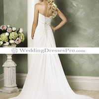 Empire Strapless Chapel train Chiffon wedding dress for brides 2012 Style(WDL0084) [WDL0084] - $132.99 : wedding fashion, wedding dress, bridal dresses, wedding shoes