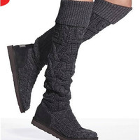 women's fashion designer brand knitted boots by knittedshoeshouse
