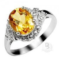 Oval Citrine Modern Ring at Dresseshop