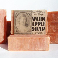 Apple Soap Handmade All Natural with Real Apple & Spice Essential Oils | appalachianheritagesoaps - Bath & Beauty on ArtFire