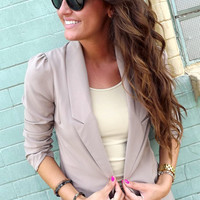 Light Mocha Blazer | The Rage