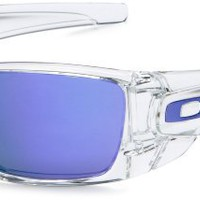 Oakley Men&#x27;s Iridium Fuel Cell Rectangular Sunglasses