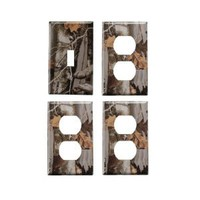 Camo Light Switch Cover + 3 Outlet Covers
