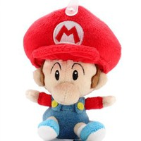 5 Official Sanei Baby Mario Soft Stuffed Plush Super Mario Plush Series Plush Doll Japanese Import