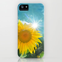 Sunflower. Vintage iPhone & iPod Case by Guido Montañés