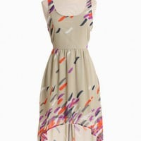 artful moments sheer panel dress