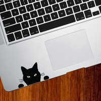 "Black Cat ""Soon..."" - Trackpad / Keyboard - Vinyl Decal"