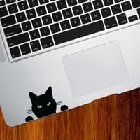 "Black Cat ""Soon"" - Trackpad / Keyboard - Vinyl Decal:Amazon:Computers & Accessories"