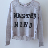 Wasted Mind Crop Knit