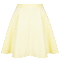 Lemon Baby Cord Skater Skirt - Skirts - Clothing - Topshop USA