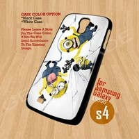 despicable me Menion Shoot on glass - Samsung Galaxy S4 i9500 Case