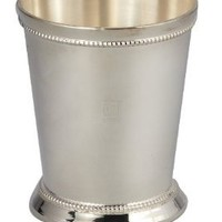 "3"" BEADED MINT JULEP CUP - 3"" SILVER PLATED BEADED MINT JULEP CUP"