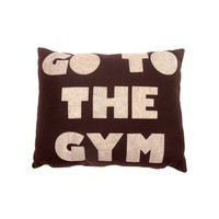 Go To The Gym Pillow - Cocoa/Oatmeal