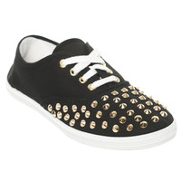 Chambray Studded Tennis Shoe | Shop Shoes at Wet Seal