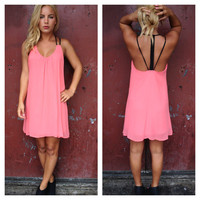 Pink Caitlin Open Back Dress