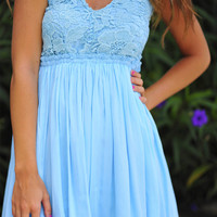 When In Romance Dress: Baby Blue | Hope's