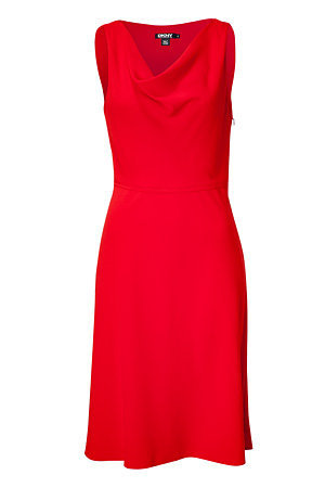 STYLEBOP.com | Red Cowl Neck Dress by DKNY | the latest trends from the capitals of the world