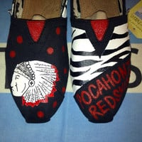 The Redskins - Pocahontas Redskins Inspired Custom TOMS Shoes