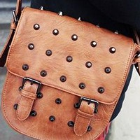 Retro Rivet Roman Style Crossbody Bag from shopgirl8