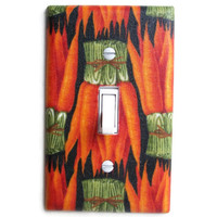 Carrot Bunches Single Toggle Switch Plate, switchplate wall decor