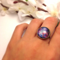 Itsy Bitsy Galaxy Ring by EggsandBakey on Etsy