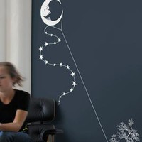 Moon Kite wall decal from Threadless by Blik
