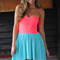 Wrap Me In Neon Dress: Neon Pink | Hope's