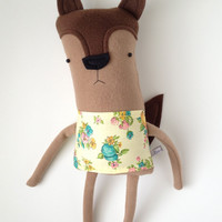 Plush Fox Friend- Finkelstein's Center Handmade Creature