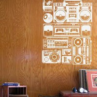 Radios wall decals from Threadless by Blik