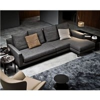 Minotti Allen Sectional Sofa - Style # AllenSectionalSofa, Leather Sectional Sofa & Contemporary Leather Sofa | SwitchModern