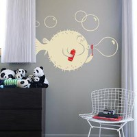Blowfish vinyl wall decal by Threadless for Blik Surface Graphics