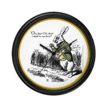 The White Rabbit Wall Clock - CafePress
