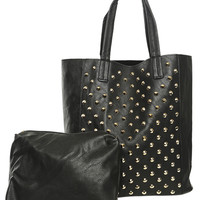 Studded Tote Bag | Shop Accessories at Wet Seal