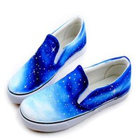 Vintage Galaxy Starry Sky Canvas Shoes from styleonline