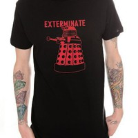 Doctor Who Dalek Exterminate T-Shirt 2XL