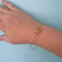 Brass Bangle Bracelet, Saskia - Brass Gold Jewlery, Brass Bracelet, Brass Jewelry, Brass Stacking Bangle Bracelet Jewelry, Brass Filigree