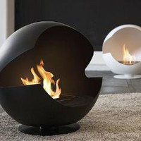 Vauni - Globe - The worlds only globe-shaped chimney-free bioethanol fireplace