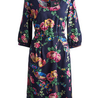 Navy Floral Leila Womens Woven Dress  | Joules UK