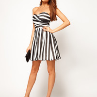 TFNC Skater Dress in Bold Stripe Chiffon at asos.com