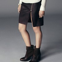 Split Lucille Leather Skirt
