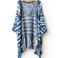 Fashion blue geometric shirt