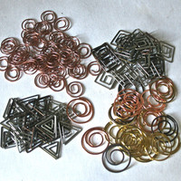 Shaped Metal Clips for Collage Jewelry Making Assemblage