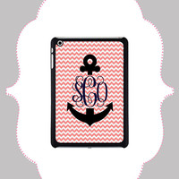 iPad Case- Anchor Monogram- iPad 2,3,4, iPad Mini Snap On iPad Case
