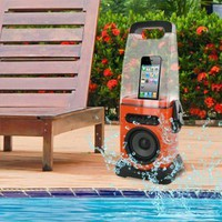 iCanister MP3/iPod Water-Resistant Speaker - Orange:Amazon:MP3 Players & Accessories