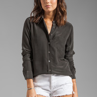 Equipment Brett Vintage Washed Blouse in Black from REVOLVEclothing.com