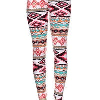 Pink Aztec Print Leggings from Jmari Designs
