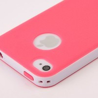 Pandamimi Dexule Rose Red White Fashion Sweety Girls TPU , PC 2-Piece Style Hard Case Cover for iPhone 4 4S with Screen Protector:Amazon:Cell Phones & Accessories