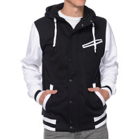 Empyre Go Team Black & White Varsity Tech Fleece Hooded Jacket at Zumiez : PDP