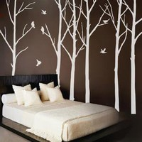 vinyl decals stickersWinter Forest with 6 Complentary by WowWall