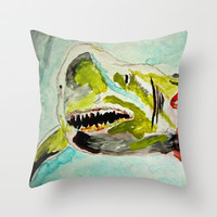 Great White Hope Throw Pillow by Bruce Stanfield